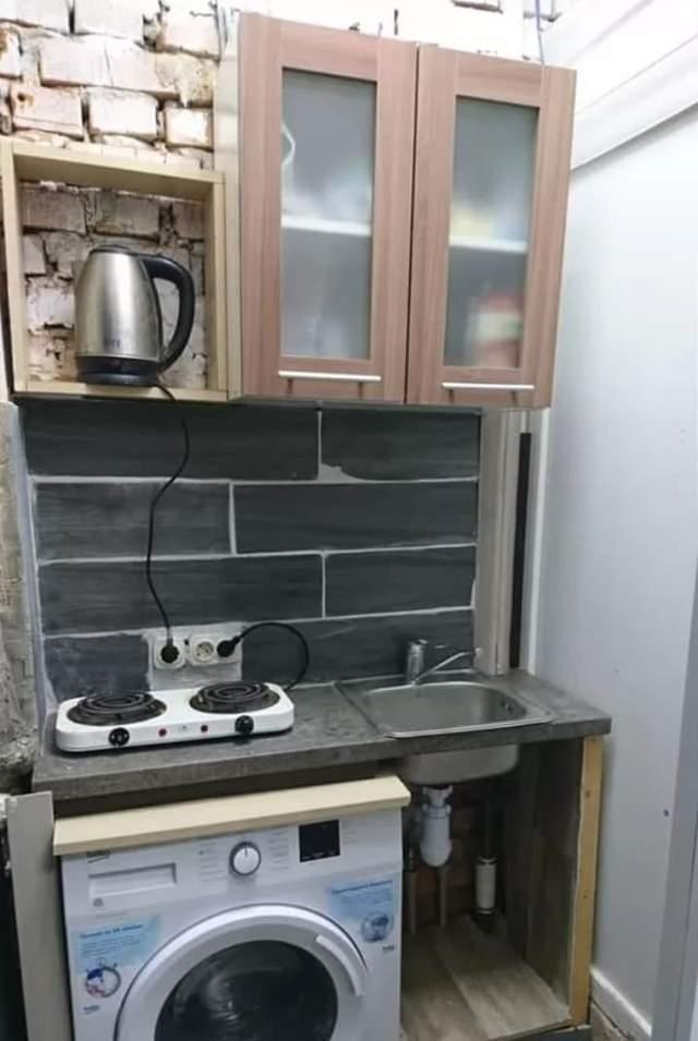 Мини-кухня в квартире площадью 6 метров