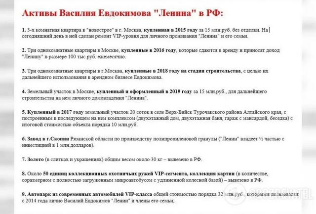 Майно Євдокимова