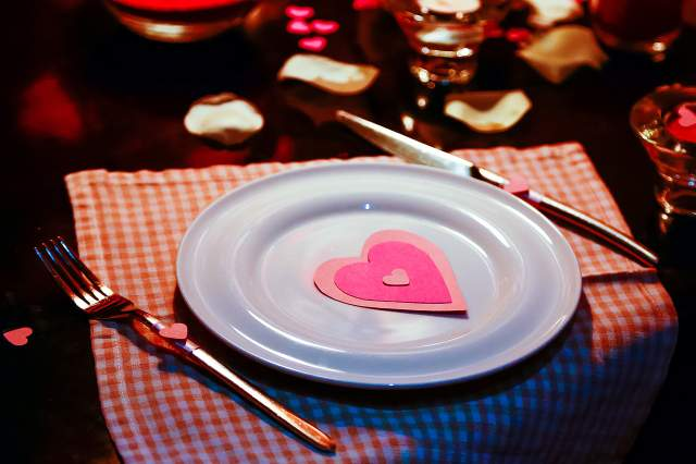 Романтична вечеря День святого Валентина