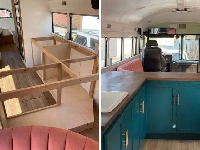 Маленька кухня в автобусі / Фото adelita_buslife