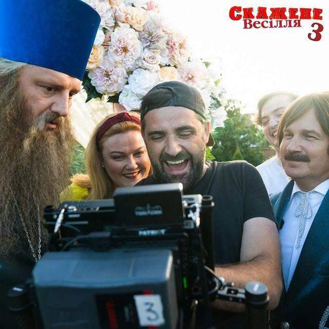 Любомир Левицький на зйомках