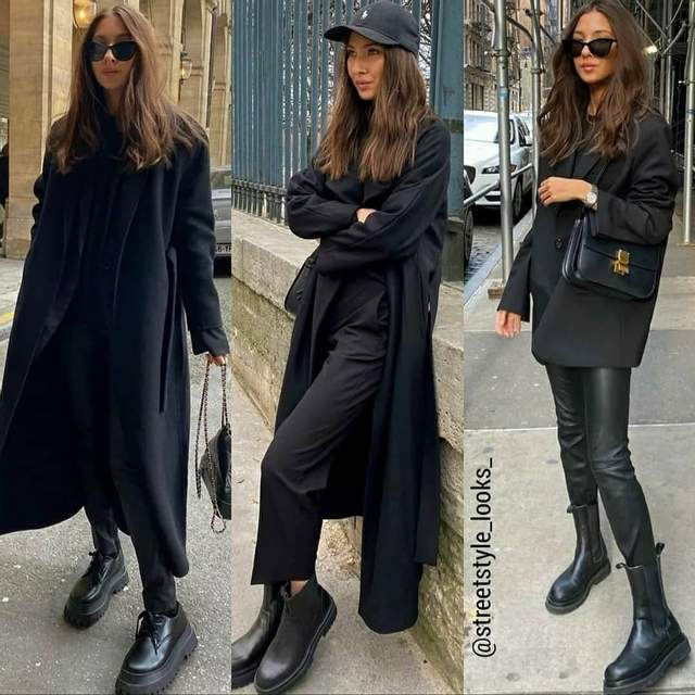 Стильні образи у чорному кольорі