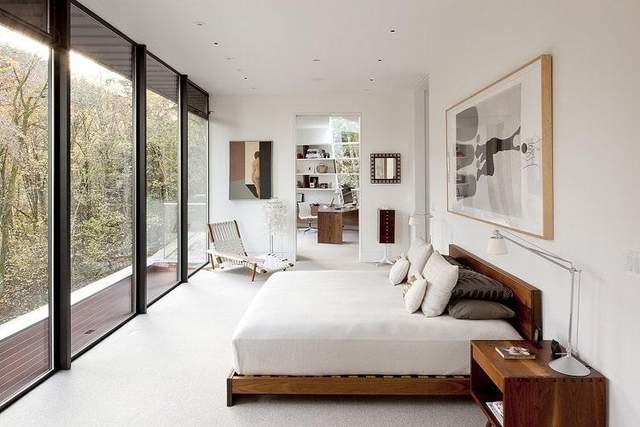 Затишна спальня із неймовірним видом / Фото Fancy Pants Homes