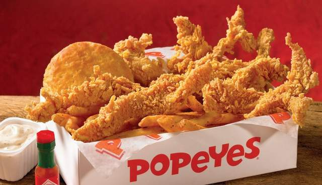 Popeyes благодаря новому меню стала успешной франшизой / Popeyes Louisiana Kitchen