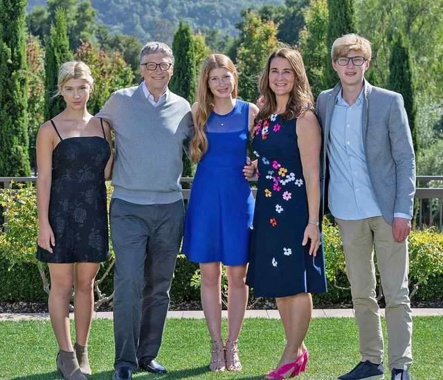 Білл Гейтс зі своєю сім'єю