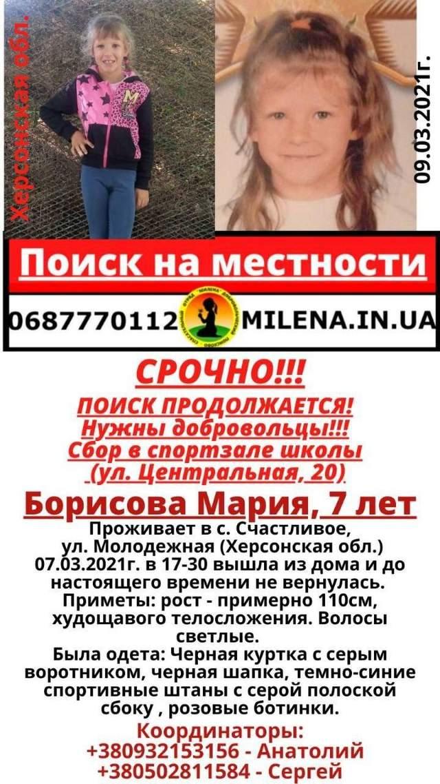 Марія Борисова, зникнення. Щасливе, Херсон, діти, вбивство
