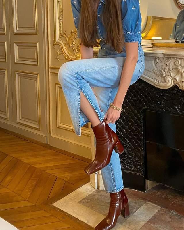 Стильний образ Жюлі Феррері / Фото з інстаграму
