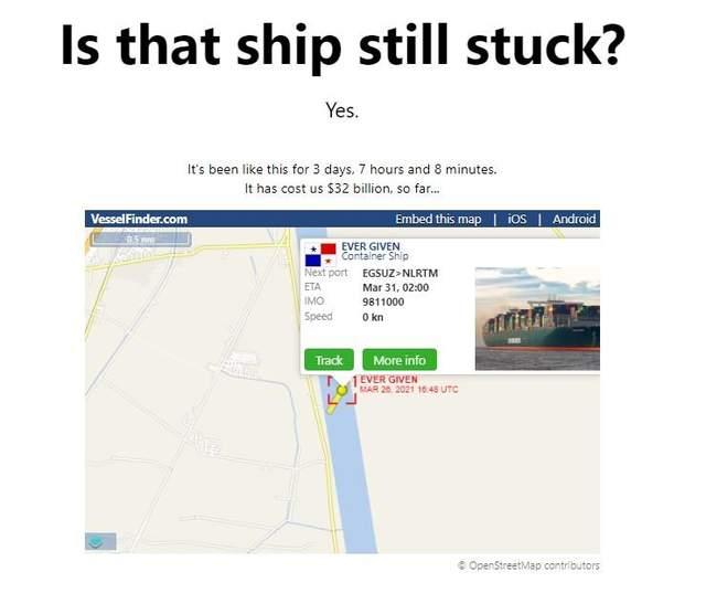 Чи звільнили Суецький канал від контейнеровоза Ever Given: сайт, що відповідає на це питання