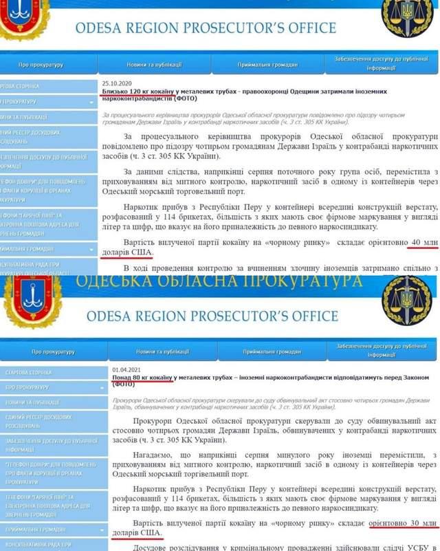 Наркотики контрабанда прокуратура кокаїн порт прикордонники СБУ