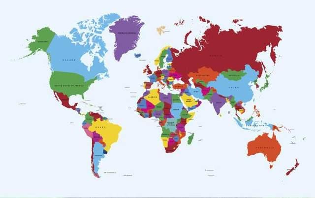 Карта материків