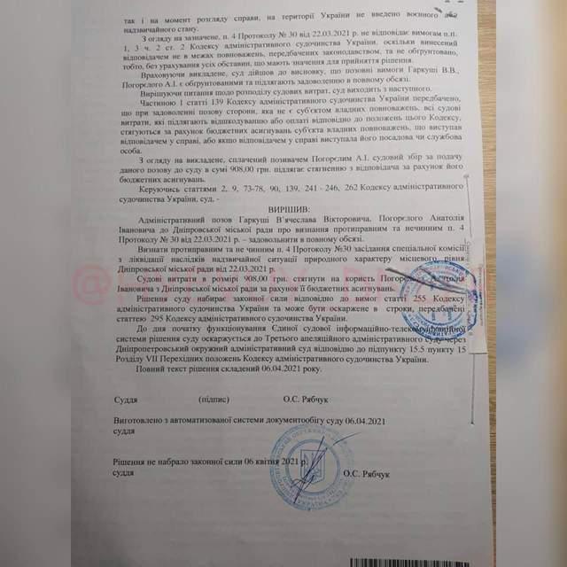рішення суду в Дніпрі