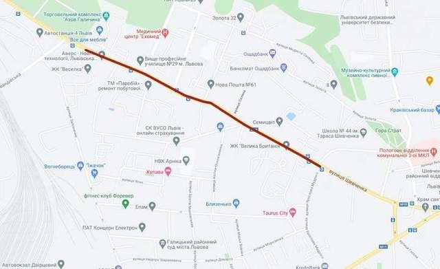 Завершать у 2022 році: у Львові невдовзі почнеться ремонт найдовшої ділянки вулиці Шевченка