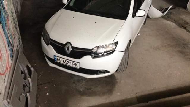 Покинуте авто Дніпро Поліція Іномарка