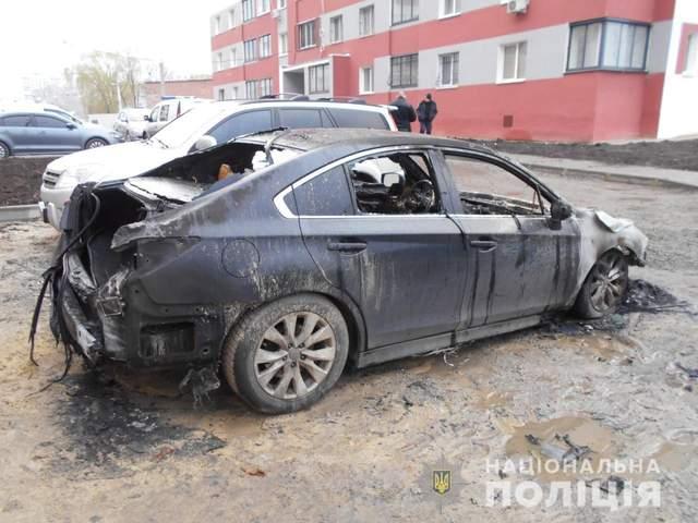 Сепаратизм авто підпал Харків траурний вінок Єгоров