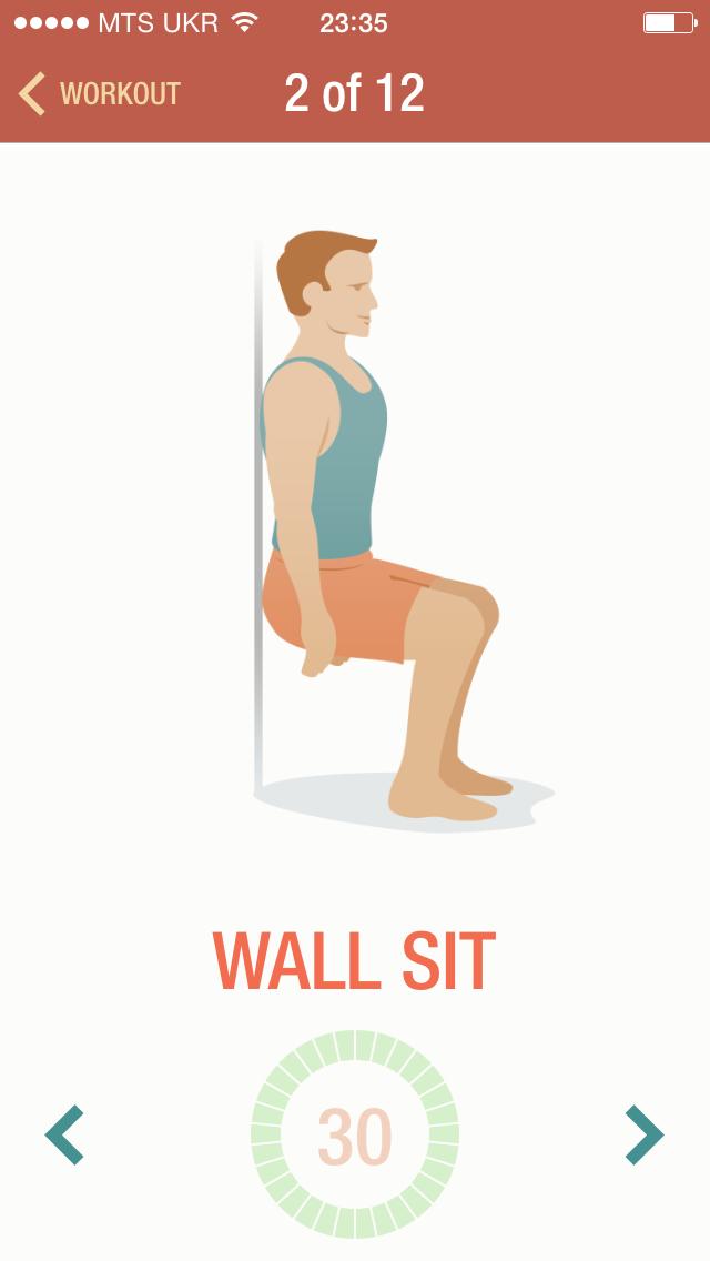 Wall sit - одна из самых сложных упражнений