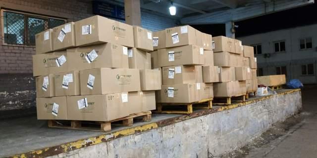 """З аеропорту """"Бориспіль"""" намагалися вивезти 1,5 тонни медичних масок – фото"""
