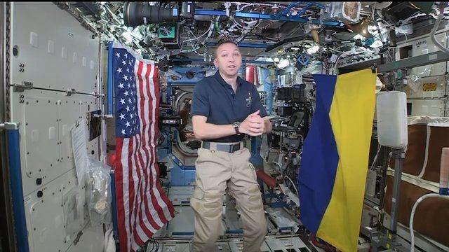 прапор україни в космосі
