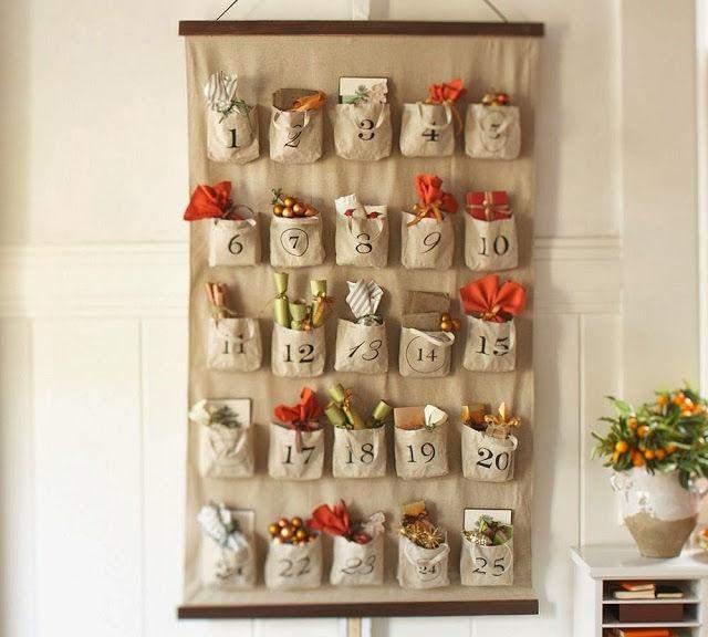 Варіант календаря з паперовими мішечками