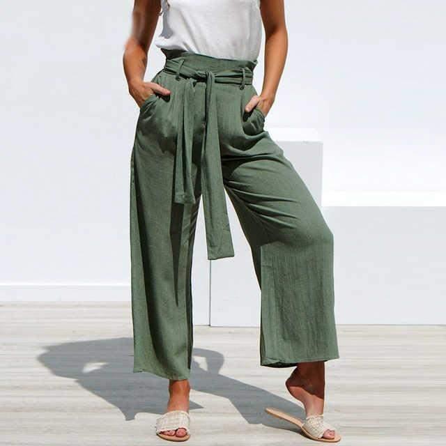 Широкі штани з чим носити