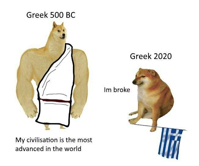 мем Swole Doge vs. Cheems