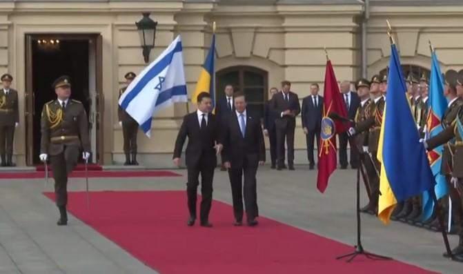Президент Ізраїлю Іцхак Герцоґ привітав ЗСУ гаслом Слава Україні, Маріїнський палац, зустріч президентів