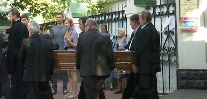 Сына Анны Герман отпели в Киеве