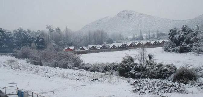 Экзотическую страну Чили засыпало снегом: фото непогоды