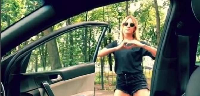 Леся Нікітюк на ходу вистрибнула з машини, щоб станцювати: кумедне відео