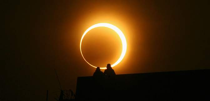 В Сочельник состоится первое солнечное затмение в году