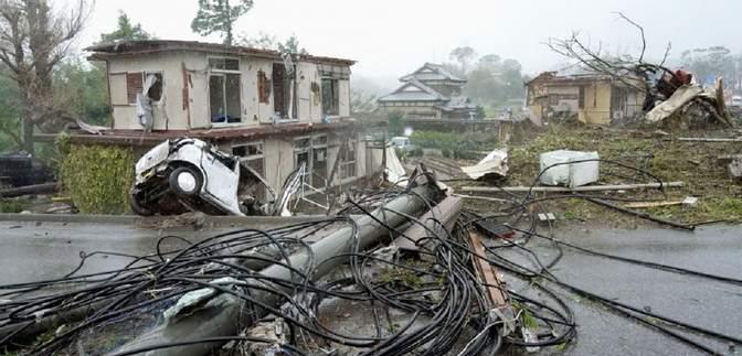 В Японії через тайфун без світла залишилися 45 тисяч будинків: фото