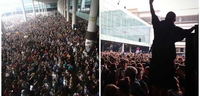 Масові заворушення в Барселоні: люди перекрили міжнародний аеропорт