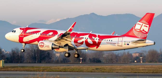 Итальянский лоукостер Ernest прекращает все полеты с 13 января