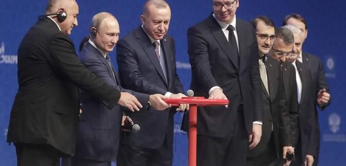 """Путін і Ердоган офіційно запустили """"Турецький потік"""""""