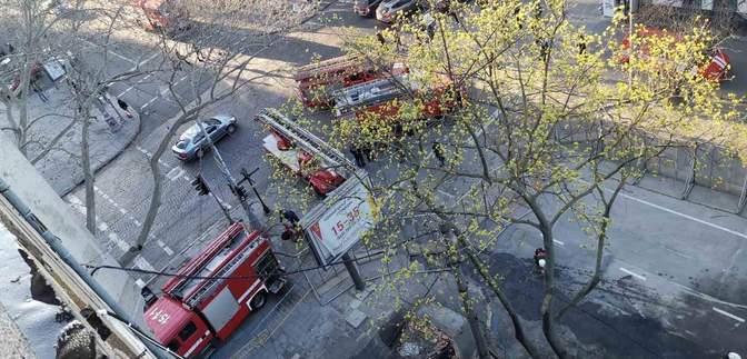 В экономическом колледже в Одессе снова возник пожар: предыдущий унес 16 жизней