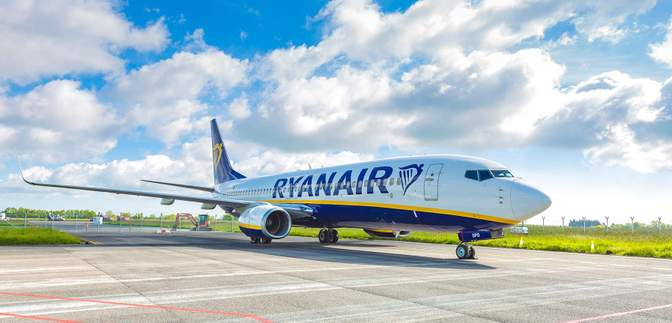 Ryanair планирует возобновить полеты по всей Европе и из Украины с 1 июля