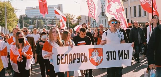 Масові марші й стрілянина силовиків: що відбувалося у Білорусі 1 листопада – фото, відео