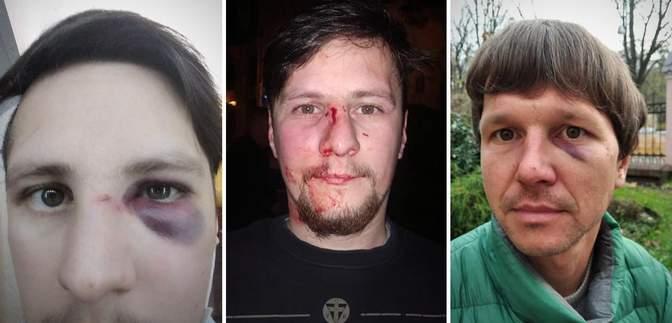Полицейские со спины напали на ветеранов АТО в центре Львова: детали