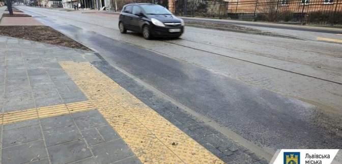 У Львові відкрили для проїзду відремонтовану вулицю Шевченка