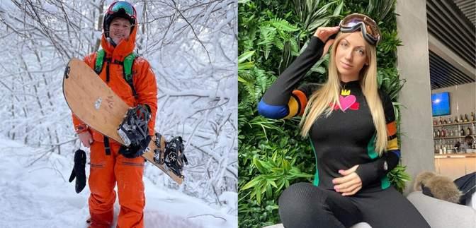 Лыжи, купание в бассейне и сноуборды: как проводят зимний отдых украинские звезды