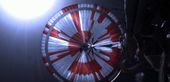 Пользователи интернета расшифровали закодированное в парашюте Perseverance послание