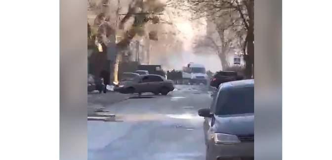 В Киеве на улице Ямской стреляли из автобуса: там был митинг против застройки