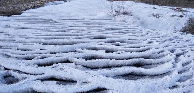 Майже як в Туреччині: краєзнавець поділився світлинами калуського Памуккале – соляної річки