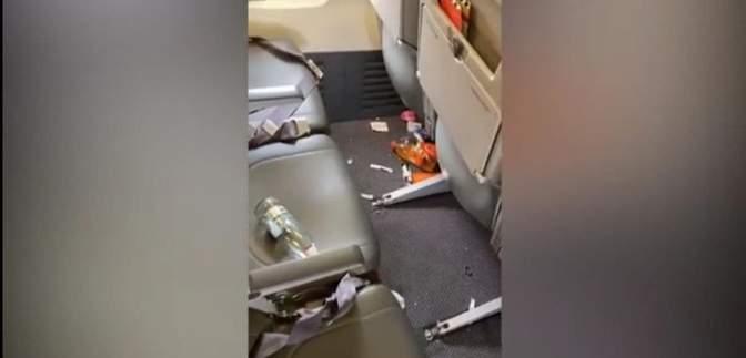 Пассажиры, путешествующие из Харькова в Египет, превратили салон самолета в свинарник: видео