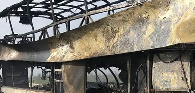 Сгорели чемоданы, от автобуса остался только каркас: последствия пожара на трассе Одесса – Киев