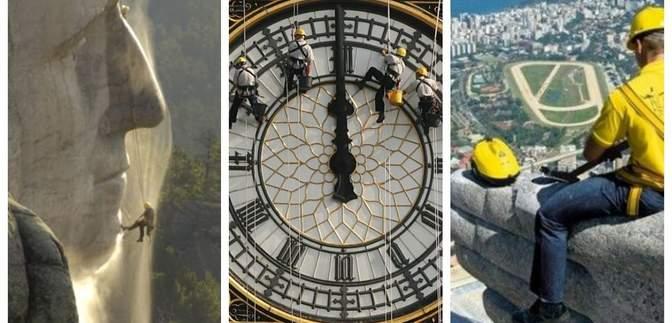 Як чистять Ейфелеву вежу, Біг-Бен та інші визначні пам'ятки світу: фото, які вас здивують