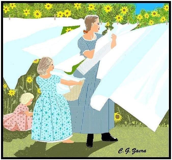 Бабуся малює картини в Paint