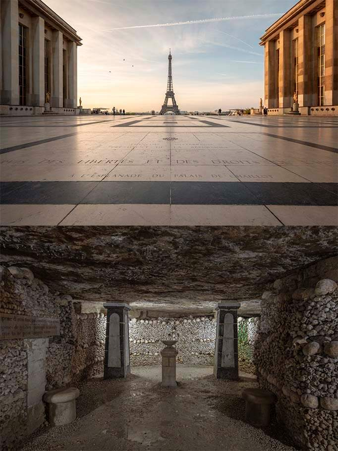 Єйфелева вежа та катакомби