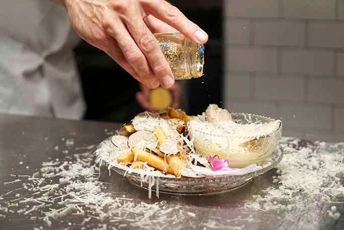 Картошка фри с золотой пылью