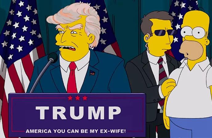 Дональд Трамп у мультфільмі
