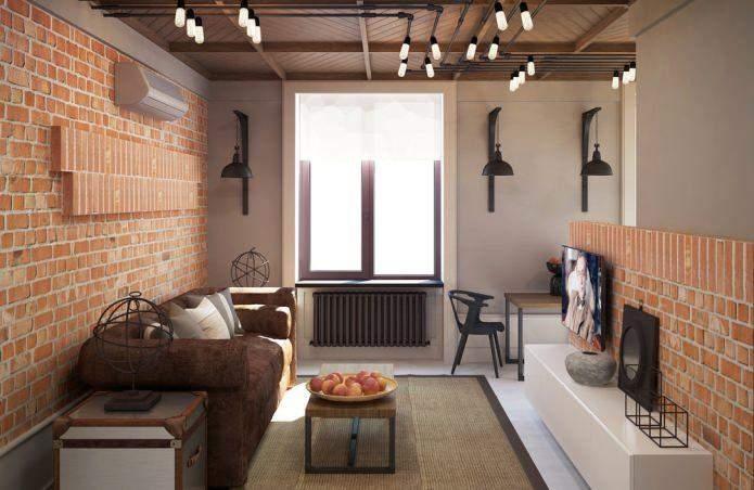 Маленька квартира в стилі лофт